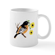 Black Eyed Susan Bird Mugs