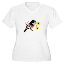 Black Eyed Susan Bird Plus Size T-Shirt