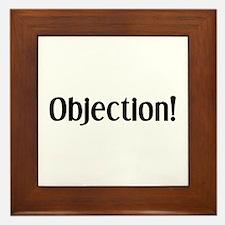 objection Framed Tile