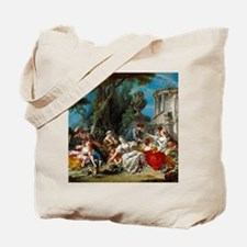 Francois Boucher - The Bird Catchers Tote Bag