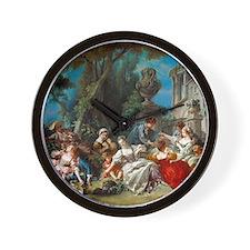 Francois Boucher - The Bird Catchers Wall Clock