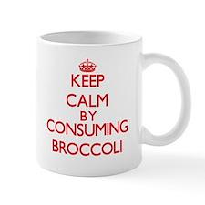 Keep calm by consuming Broccoli Mugs