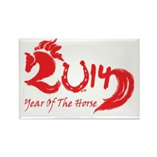 Lucky Horse Year 2014 Rectangle Magnet