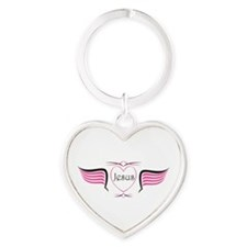 Funny Christian left Heart Keychain