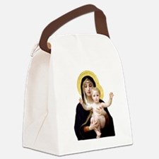 Virgin of the Lilies Canvas Lunch Bag
