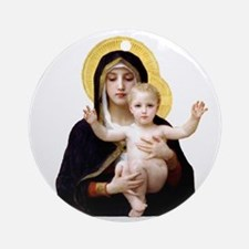 Virgin of the Lilies Round Ornament