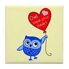 Owl Steal Your Heart Tile Coaster