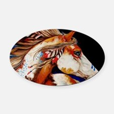 Spirit Horse Oval Car Magnet