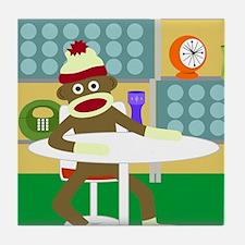 Sock Monkey Retro Modern Furniture Tile Coaster