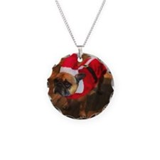 Monty The Frenchie Necklace Circle Charm