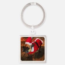 Monty The Frenchie Square Keychain