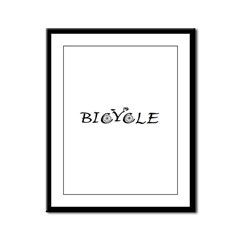 BICYCLE WORD - FINE HAND Framed Panel Print