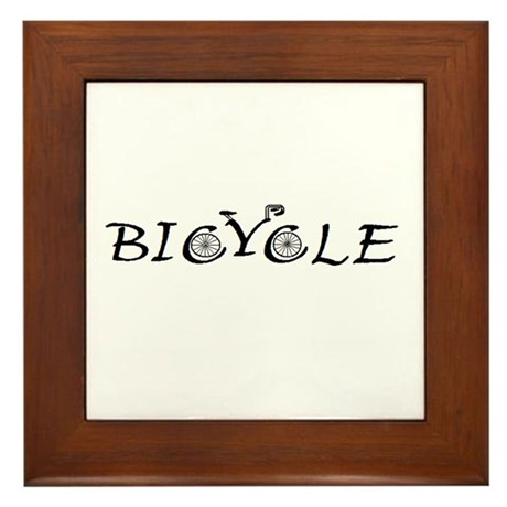BICYCLE WORD - FINE HAND Framed Tile