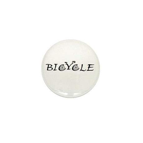 BICYCLE WORD - FINE HAND Mini Button