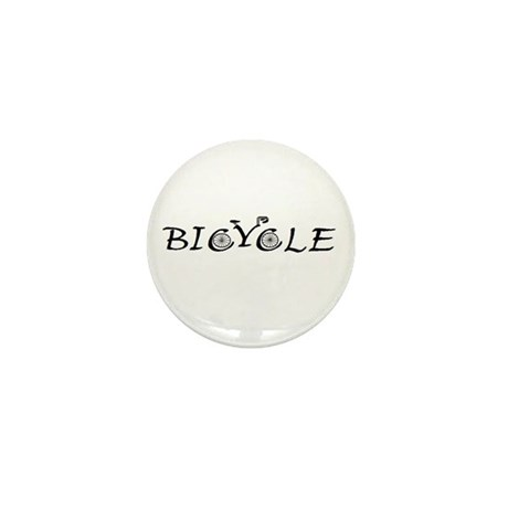 BICYCLE WORD - FINE HAND Mini Button (100 pack)