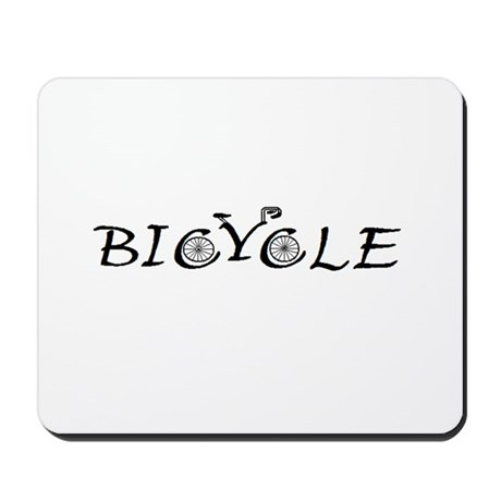 BICYCLE WORD - FINE HAND Mousepad