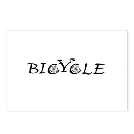 BICYCLE WORD - FINE HAND Postcards (Package of 8)