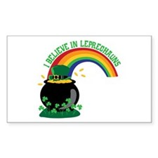 I BELIEVE IN LEPRECHAUNS Decal