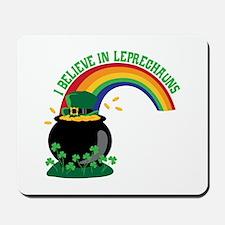 I BELIEVE IN LEPRECHAUNS Mousepad