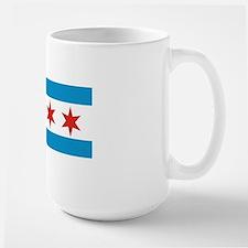 chicago city flag Large Mug