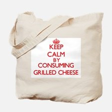 Keep calm by consuming Grilled Cheese Tote Bag