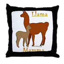 Alpaca & Cria Throw Pillow