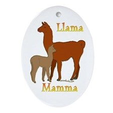 Alpaca & Cria Oval Ornament