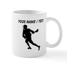 Custom Lacrosse Player Silhouette Mugs
