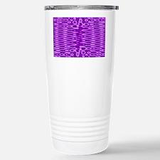 Bright Purple Pattern Travel Mug