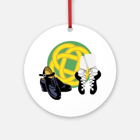 Celtic Knot Irish Shoes Ornament (Round)