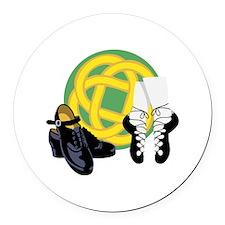 Celtic Knot Irish Shoes Round Car Magnet