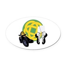 Celtic Knot Irish Shoes Oval Car Magnet