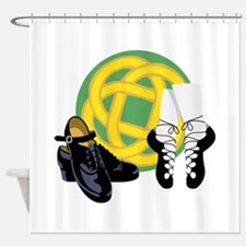 Celtic Knot Irish Shoes Shower Curtain