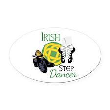 IRISH STEP Dancer Oval Car Magnet