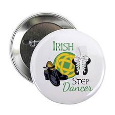 """IRISH STEP Dancer 2.25"""" Button"""