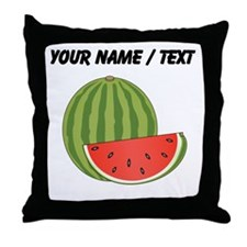 Custom Watermelon Throw Pillow