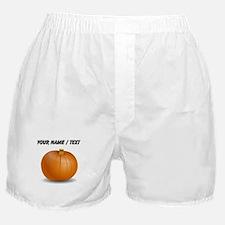 Custom Orange Pumpkin Boxer Shorts