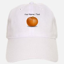 Custom Orange Pumpkin Baseball Baseball Cap