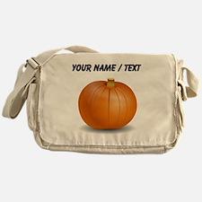 Custom Orange Pumpkin Messenger Bag