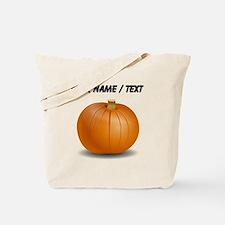 Custom Orange Pumpkin Tote Bag