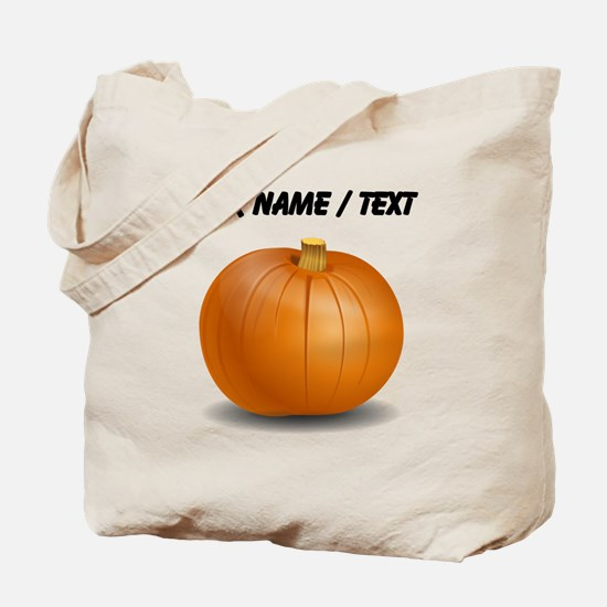Custom Orange Pumpkin Tote Bag
