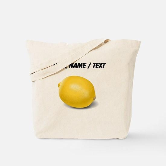 Custom Yellow Lemon Tote Bag