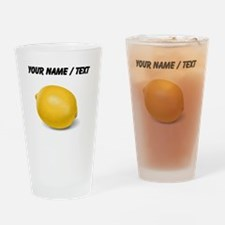 Custom Yellow Lemon Drinking Glass