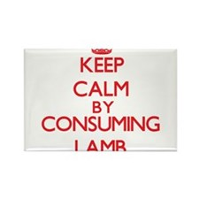 Keep calm by consuming Lamb Magnets
