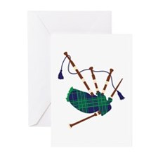 Scottish Bagpipes Greeting Cards