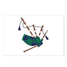 Scottish Bagpipes Postcards (Package of 8)