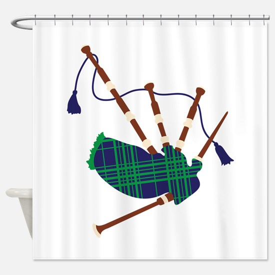 Scottish Bagpipes Shower Curtain