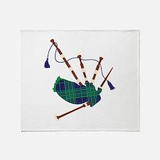 Scottish Bagpipes Throw Blanket