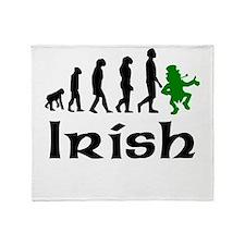 Irish Leprechaun Evolution Throw Blanket