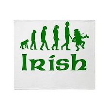 Green Irish Leprechaun Evolution Throw Blanket
